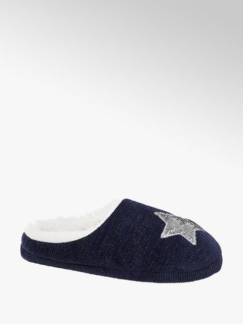 Casa mia Ladies Star Mule Slippers
