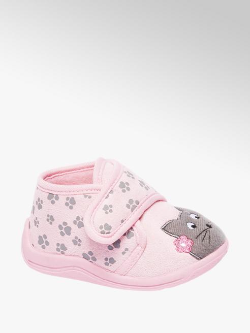 Cupcake Couture Roze pantoffel velcro