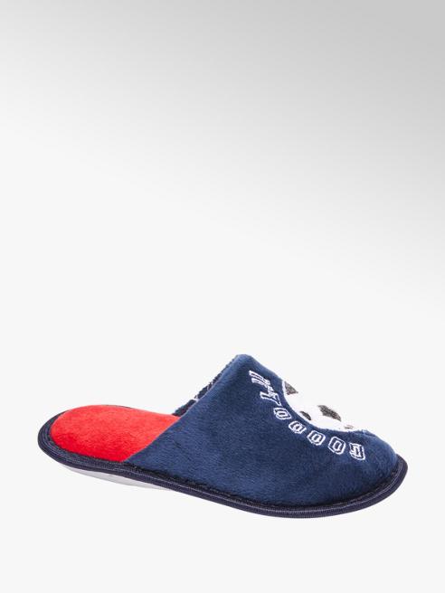 Blauwe instap pantoffel