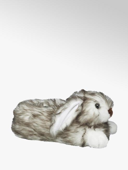 Casa mia Grijze konijnen pantoffel