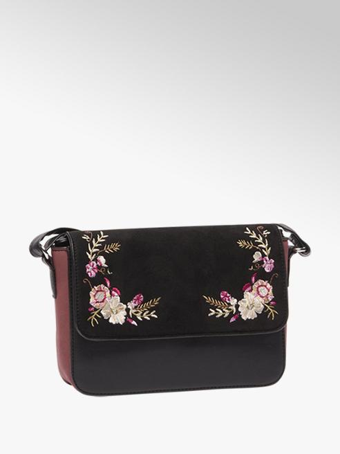 Graceland Zwarte schoudertas Embroidery