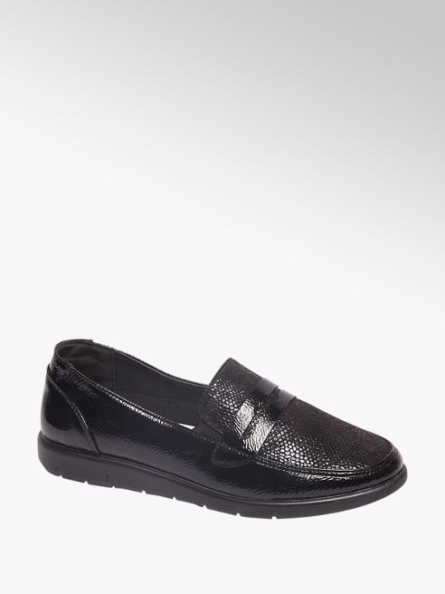 Easy Street Comfort Black Patent Comfort Loafers