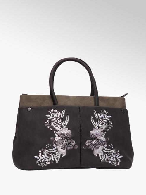 Graceland Zwarte handtas bloemen