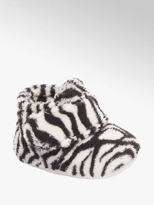 Casa mia Zwart wit babyslofje klittenband