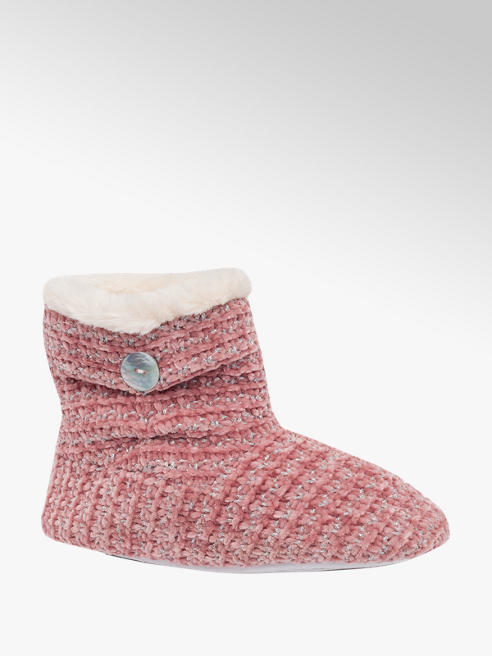 Ladies Knitted Slipper Boots
