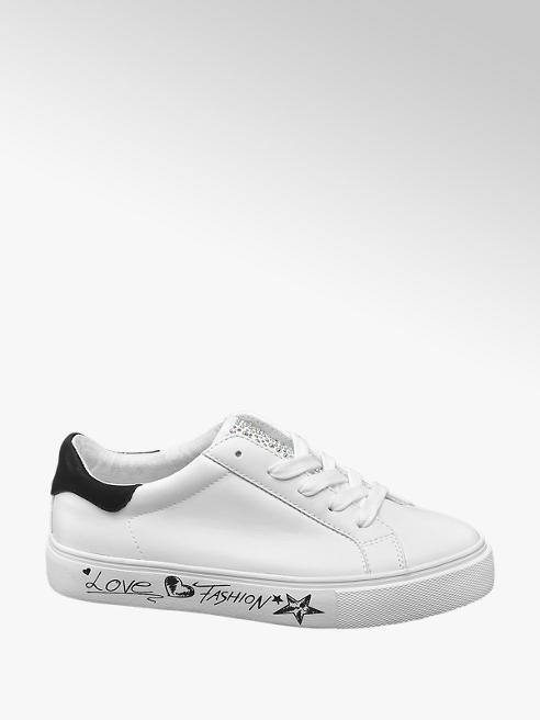 Graceland Witte sneaker tekst zool