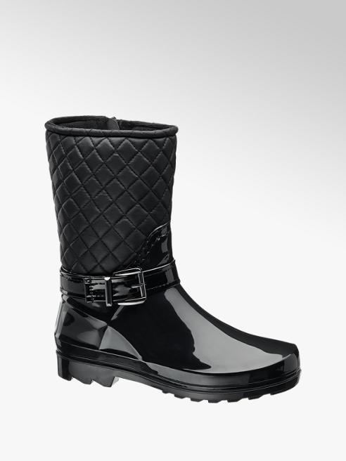 Graceland Zwarte lak regenlaars