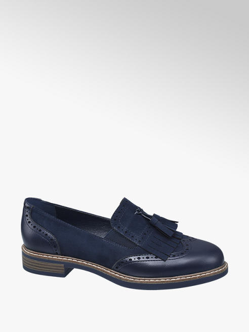 Graceland Navy Tassle Loafers