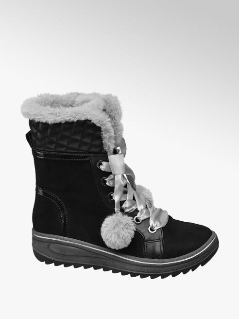 Cortina Zwarte veterlaars warmgevoerd
