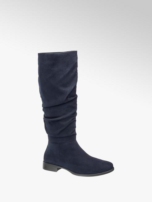 Graceland Navy Blue Long Leg Boots