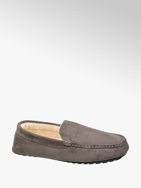 Casa mia Mens Warm Lined Moccasin Slippers