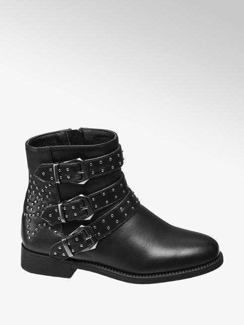 Graceland Juniot Girl Black Stud Detail Ankle Boots