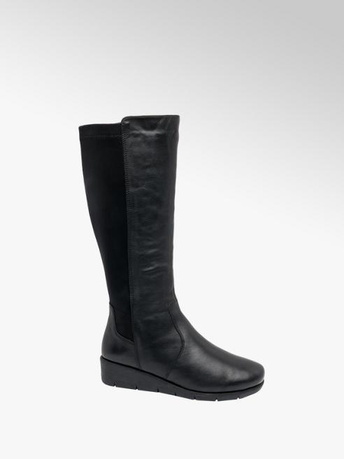 Easy Street Black Heel Long Leg Boot