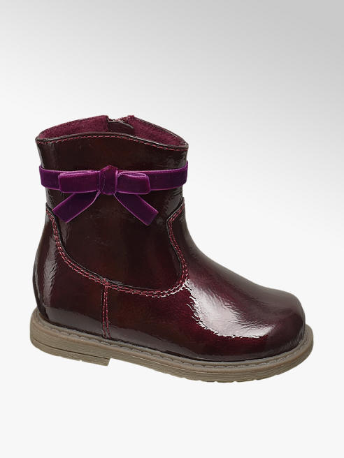Cupcake Couture Toddler Burgundy Patent Ankle Boots