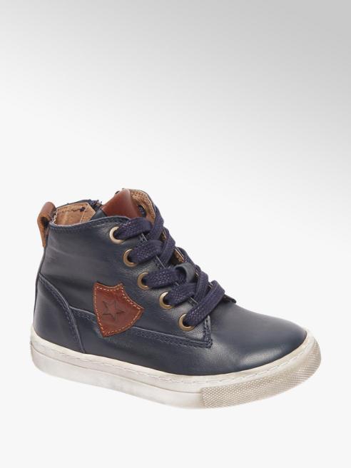 Bobbi-Shoes Blauwe leren boot