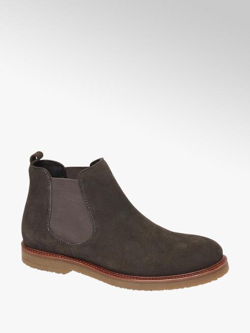 AM shoe Donkergrijze suède chelseaboot