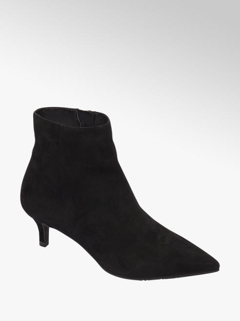 5th Avenue Zwarte enkellaars suede