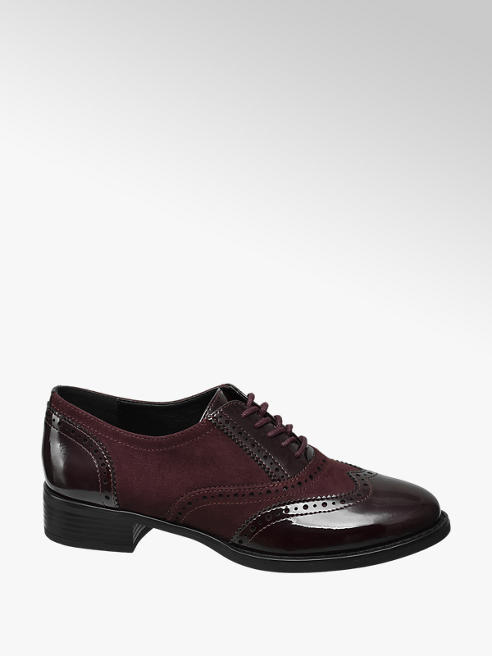Graceland Bordo Lace Up Brogues
