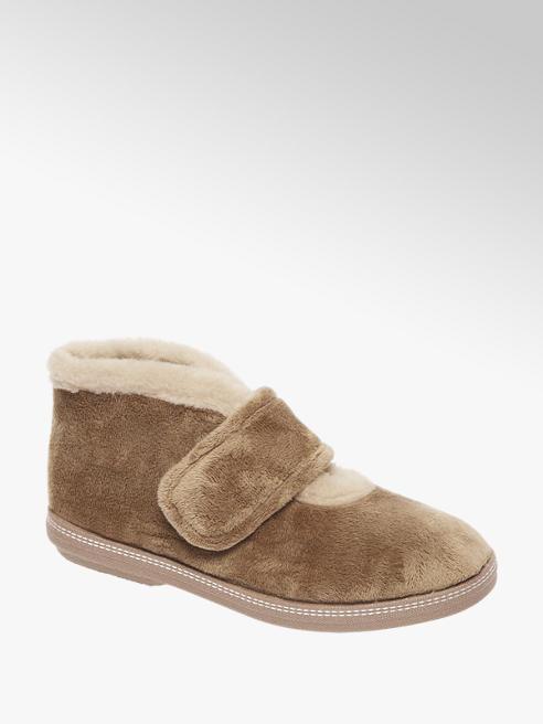 Casa mia Beige pantoffel gevoerd