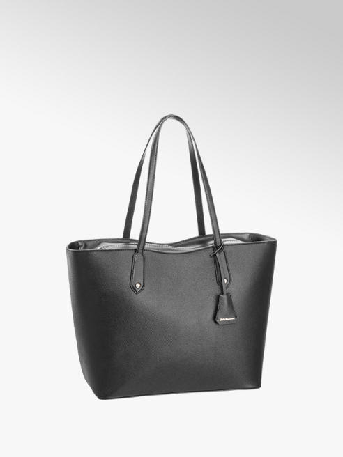 5th Avenue Zwarte shopper leer