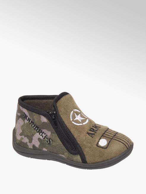 Bobbi-Shoes Groene pantoffel rits