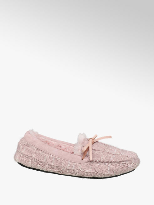 Casa mia Roze pantoffel warmgevoerd