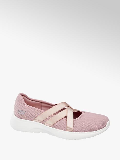 Skechers Roze ballerina kruisbandjes memory foam