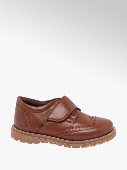 Bobbi-Shoes Toddler Boy Tan Leather Rip Tape Brogues