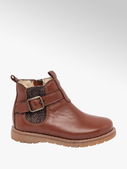 Bobbi-Shoes Toddler Boy Tan Leather Chelsea Boots