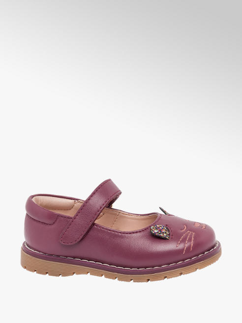 Cupcake Couture Toddler Girl Purple Leather 'Cat Face' Bar Shoes