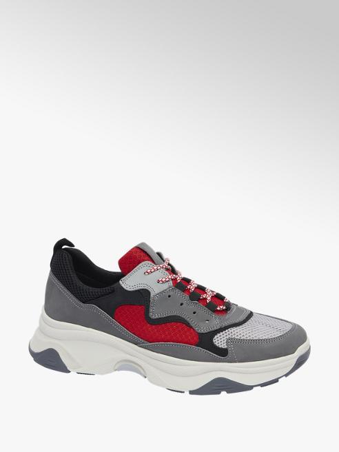 AM shoe Grijze sneaker vetersluiting
