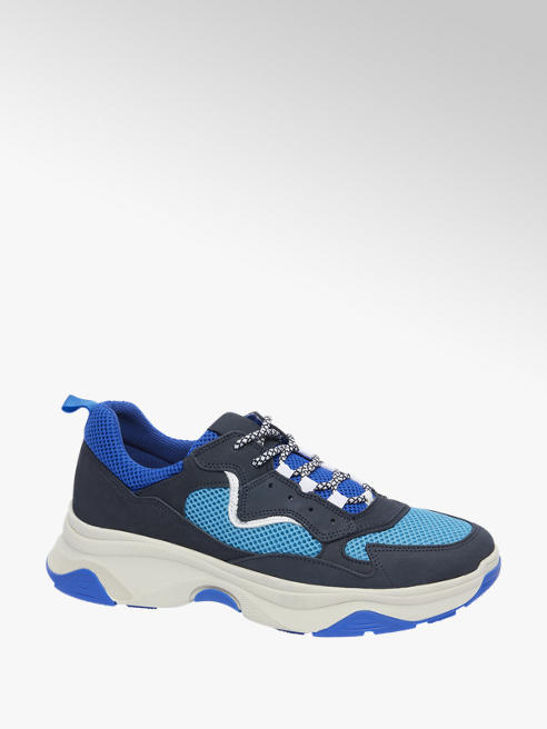 AM shoe Blauwe sneaker vetersluiting