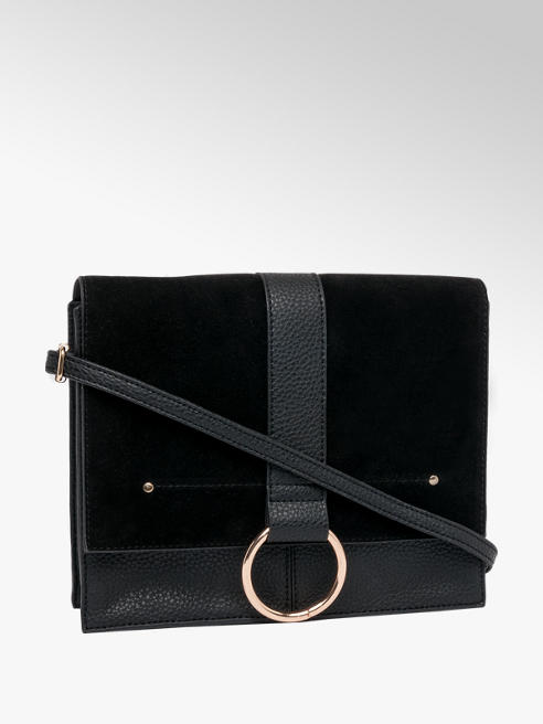 Ring Detail Satchel Handbag