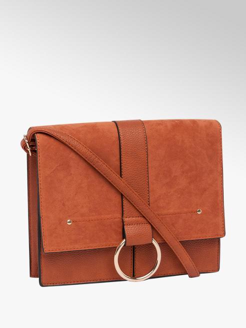 Ring Detail Satchel Handbag