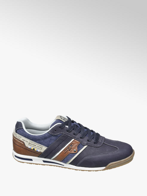 Memphis One Blauwe sneaker vetersluiting