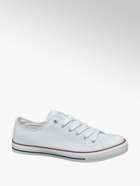 Vty Mens VTY White Lace-up Canvas Shoes