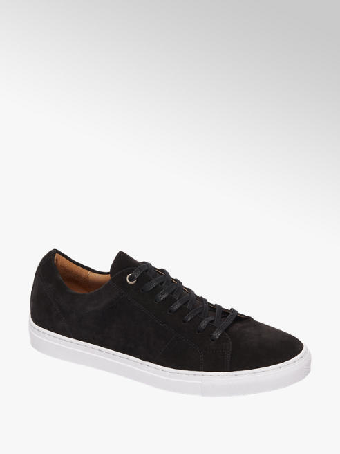 AM shoe Zwarte suède sneaker vetersluiting