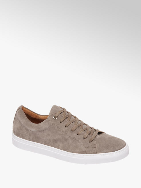 AM shoe Taupe suède sneaker vetersluiting