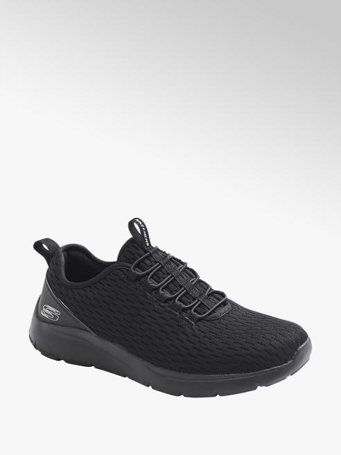 Skechers Zwarte sneaker elastische vetersluiting