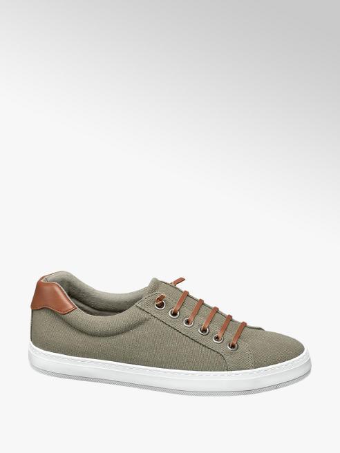 Vty Groene canvas sneaker slip on