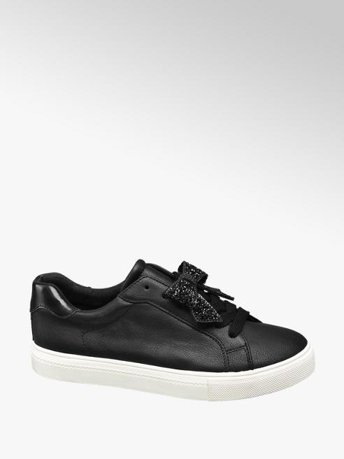 Graceland Sneaker nero con fiocco