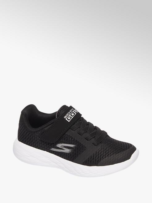 Skechers Zwarte sneaker elastische veter