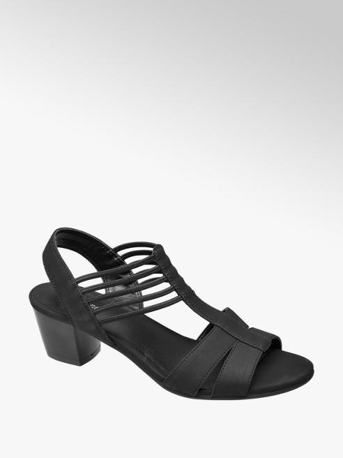Graceland Zwarte sandaal elastiek