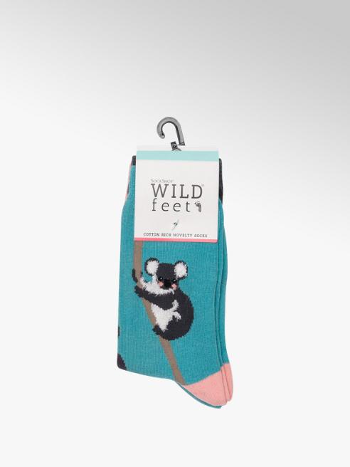 Wildfeet Ladies 3 Pack Wildfeet Koala Ankle Socks (UK 4-8)