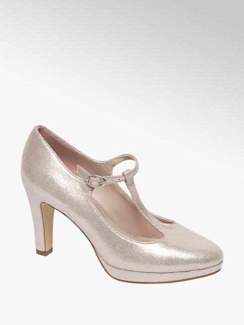 Graceland Roze glitter pump gespsluiting