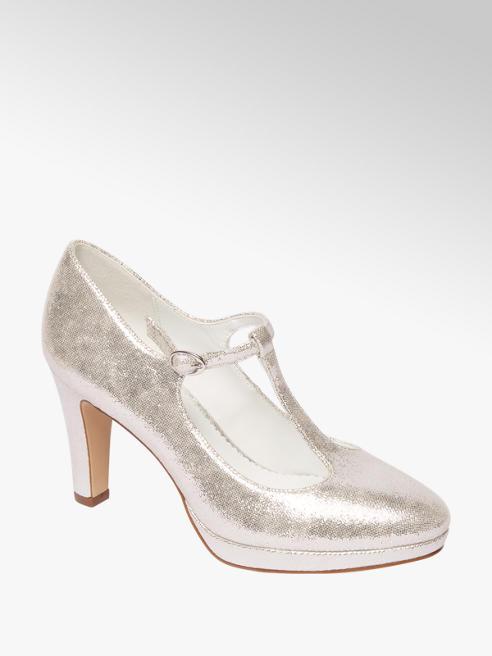 Graceland Zilveren glitter pump gespsluiting