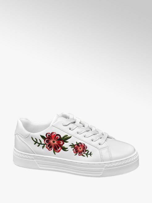 Graceland Witte sneaker embroidery