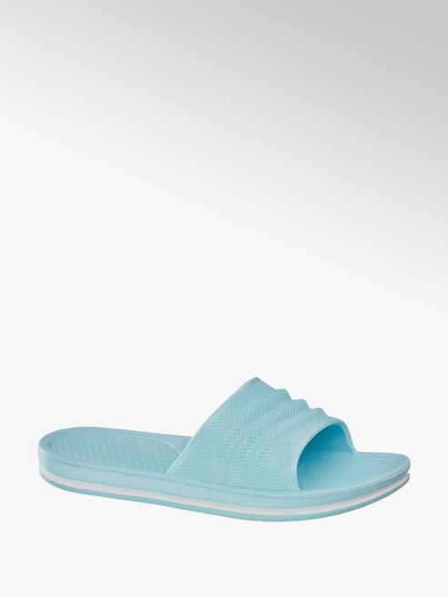 Blue Fin Blauwe badslipper