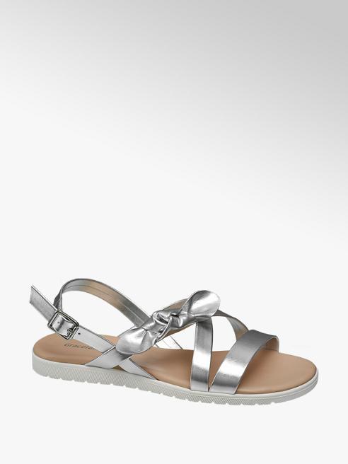 Graceland Zilveren sandaal strik