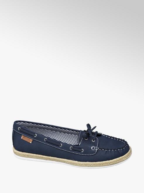 Blauwe bootschoen strik